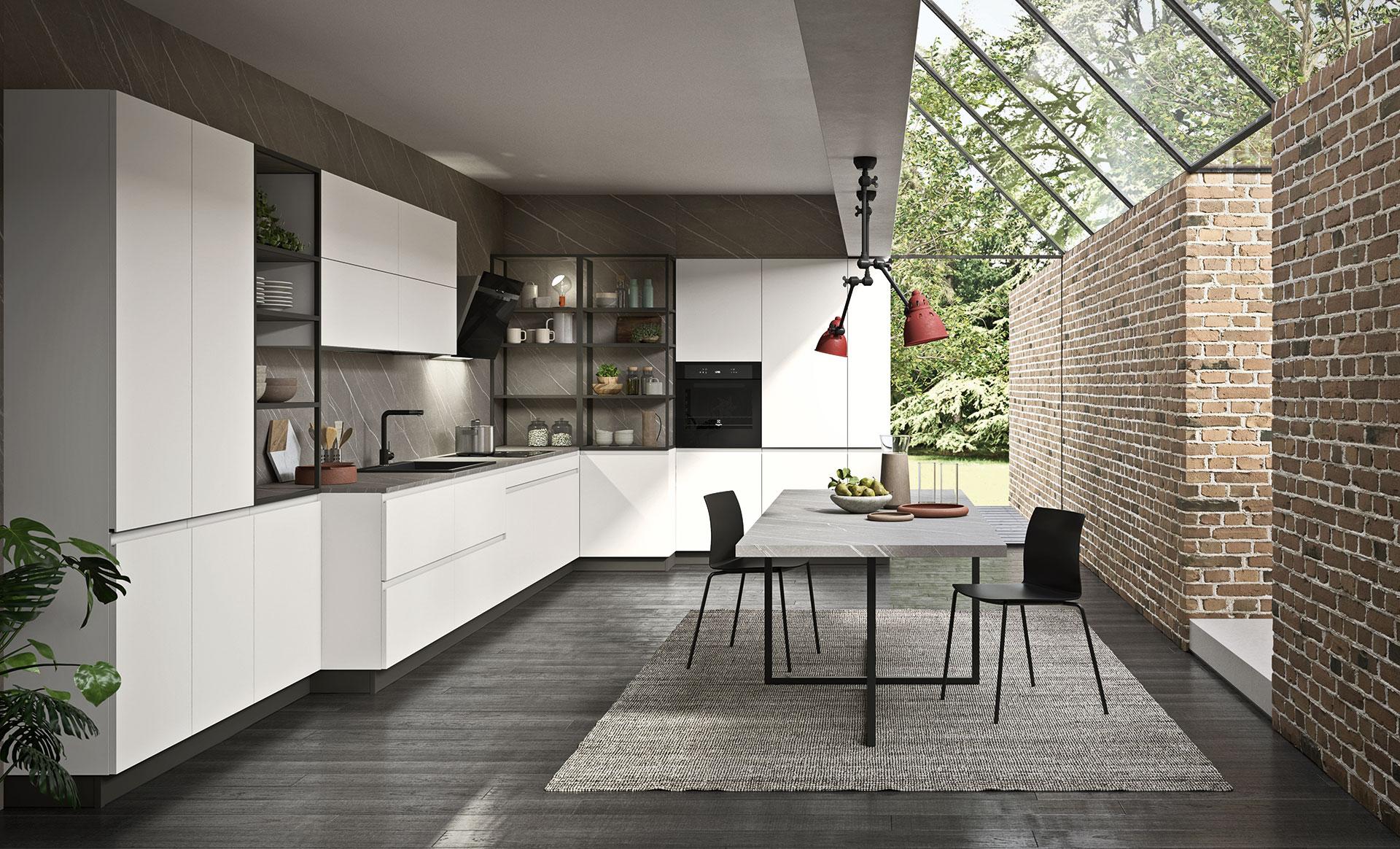 Un design originale per le cucine moderne antares - Cucine angolo cottura ...