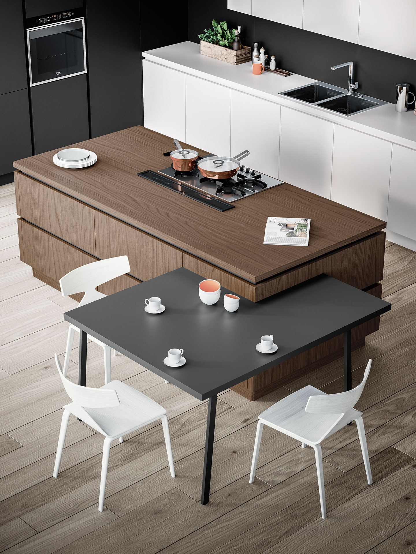 Un design originale per le cucine moderne antares for Design di showroom di mobili