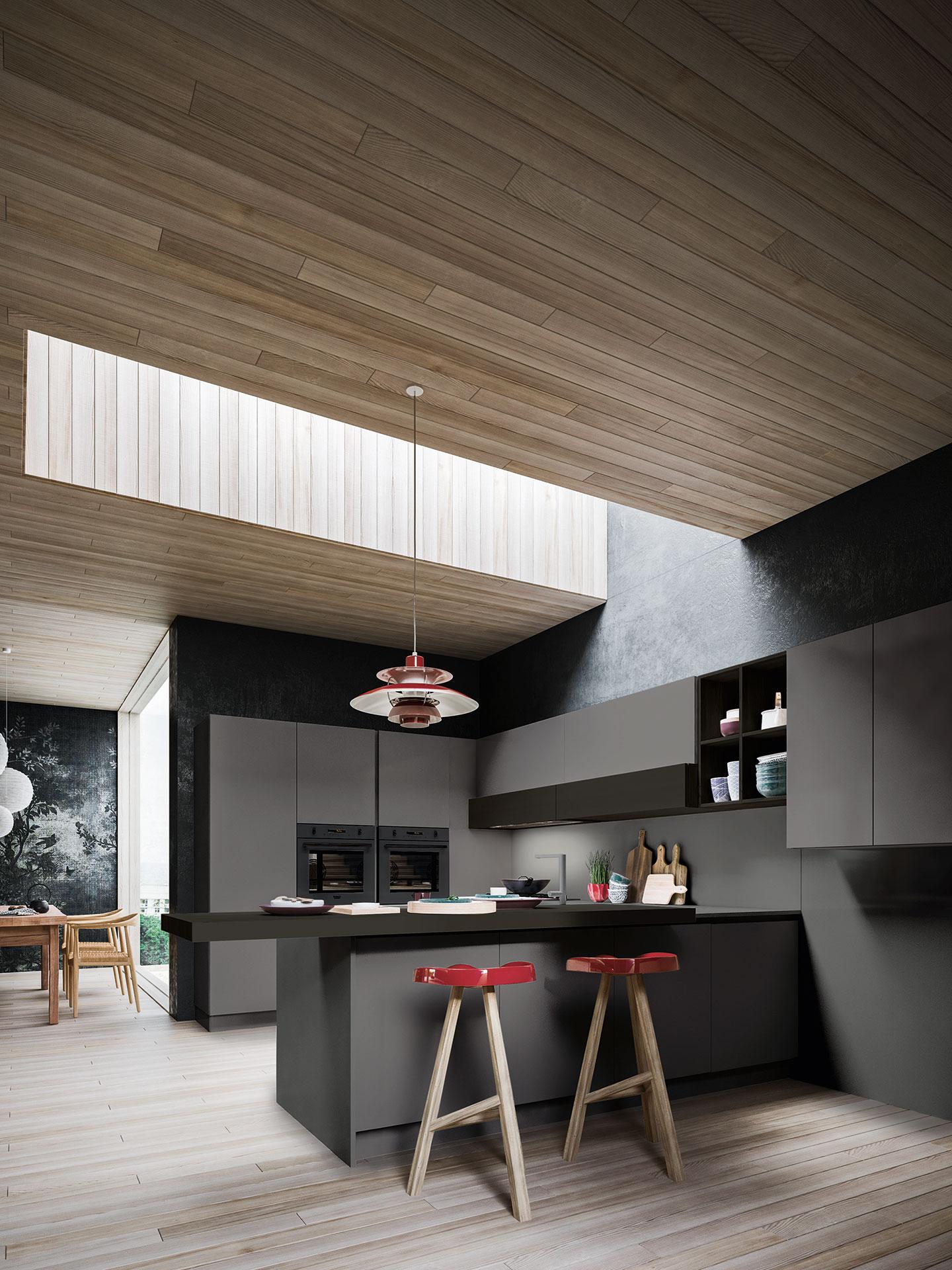Un design originale per le cucine moderne antares - Cucine originali ...
